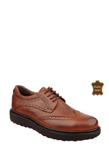 Wolfland Hakiki Deri Bağcıklı Ayakkabı Taba
